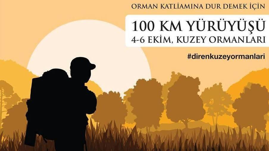 Ormanlar için 100 km