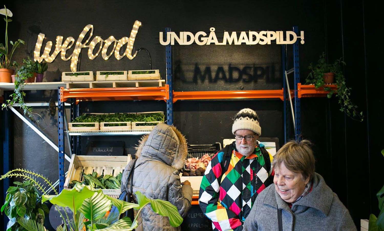 Danimarka üretim fazlası gıda ürünleri satan ilk marketini açtı