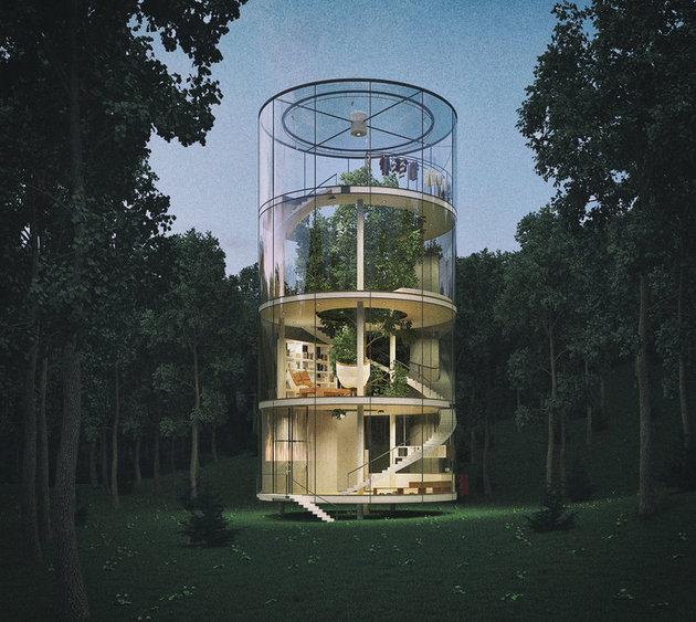 Ağaç ev değil ağaçlı ev