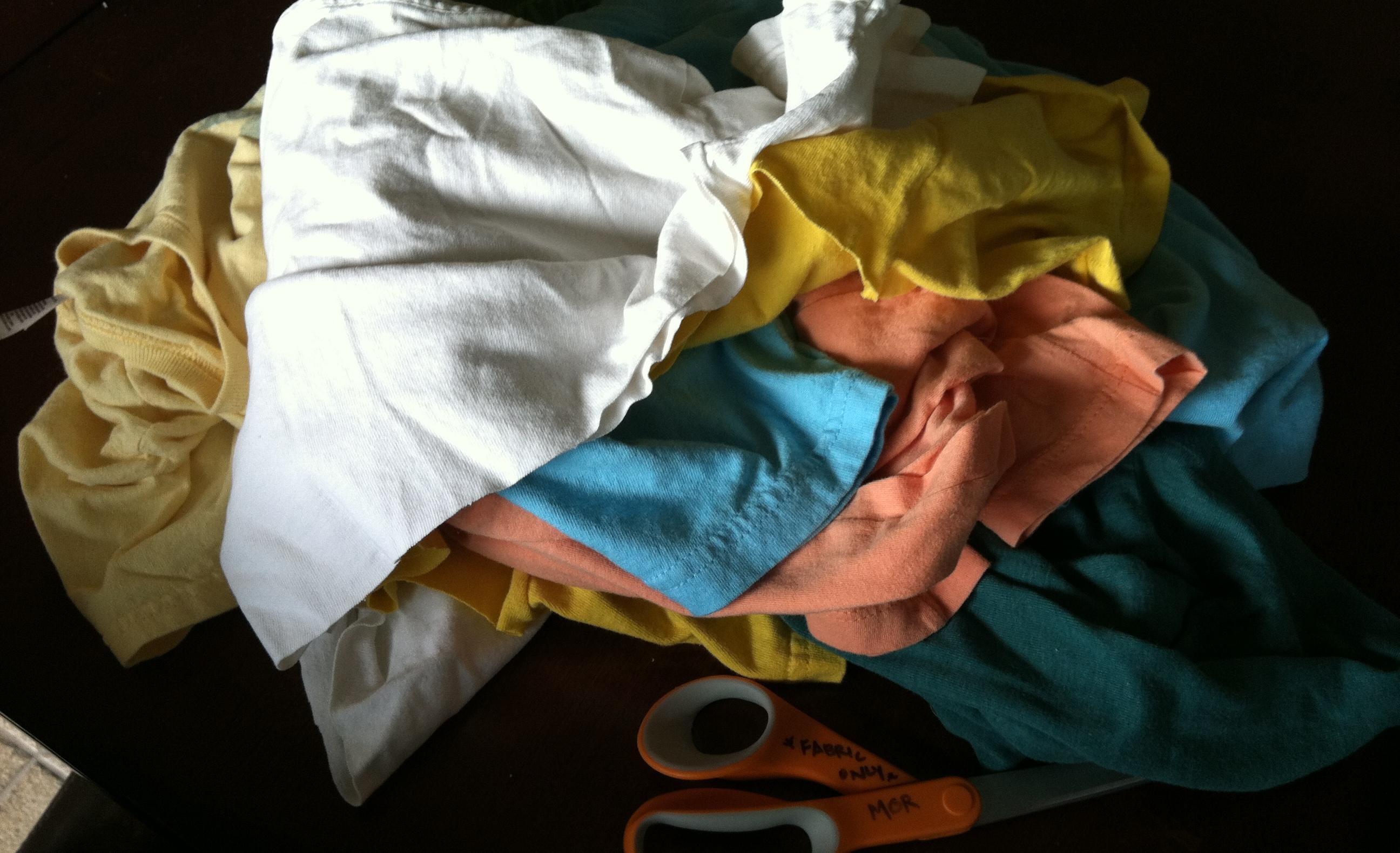Tişörtten Püsküllü Şal Yapımı