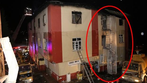Yurt gerçekleri: Yangın merdiveni yok, varsa da kapısı kilitli