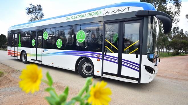 İzmir'in tamamen elektrikli otobüs filosu yola çıkıyor