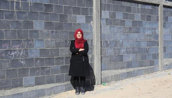 Filistinli genç mühendis atıkları değerlendirerek Gazze'nin yeniden inşasına yardım ediyor