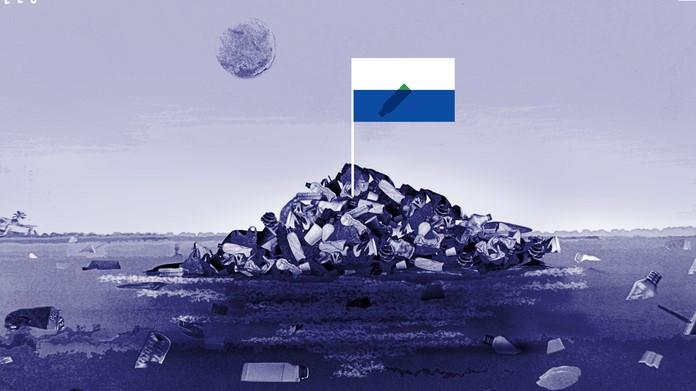 Bayrağı, pasaportu, parası hazır: Boyutu Fransa kadar olan okyanustaki çöpten ada ülke olsun!