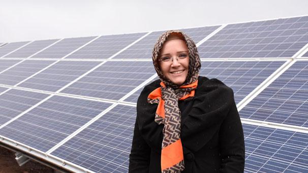 Manisalı kadın girişimci, kurduğu güneş enerjisi santrali ile elektrik üretecek