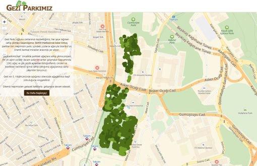 Gezi Parkı'ndaki ağaçları tanıtan internet sitesi açıldı