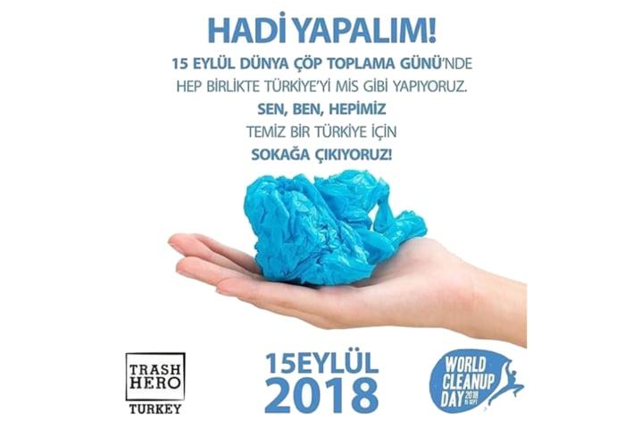 Haydi Yapalım! 15 Eylül Dünya Temizlik Günü'nde mis gibi Türkiye