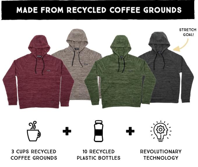 Bu sweatshirt'ler kahve telvesi ve pet şişeden üretiliyor – Yeşilist | Herkes için yeşil