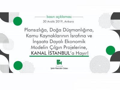 Şehir Plancıları Odası Kanal İstanbul hakkında açıklama yaptı