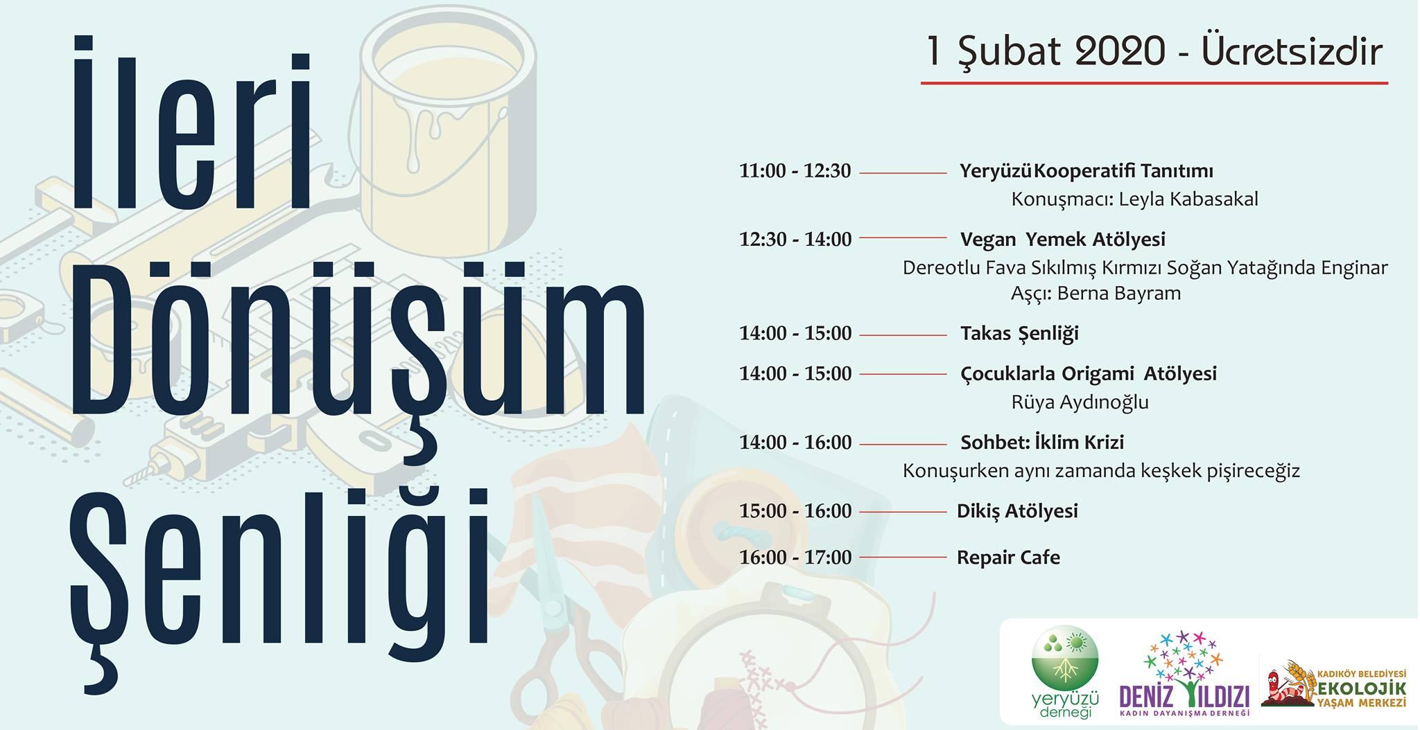 Bu Cumartesi Kadıköy'de: İleri Dönüşüm Şenliği