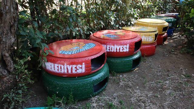 İzmir'de hurdaya çıkan lastiklerden kedi evleri yapılıyor – Yeşilist | Herkes için yeşil