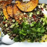 Pancarlı yeşil mercimek salatası